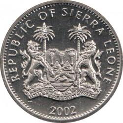 Moneta > 1dollaro, 2002 - Sierra Leone  (In memoria - Regina madre con il cane) - obverse