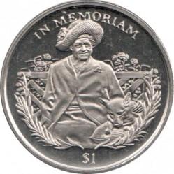 Moneta > 1dollaro, 2002 - Sierra Leone  (In memoria - Regina madre con il cane) - reverse