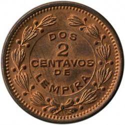 Moneta > 2sentavai, 1939-1956 - Hondūras  - reverse