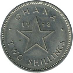 Кованица > 2шилинга, 1958 - Гана  - reverse