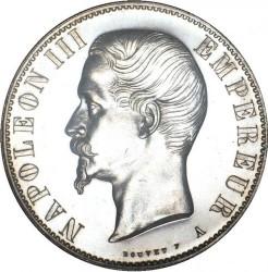 Монета > 5франков, 1854-1859 - Франция  - obverse