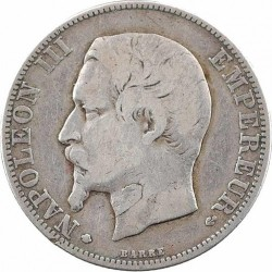 Moneta > 2franchi, 1853-1859 - Francia  - obverse