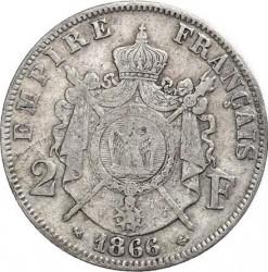 Moneta > 2franchi, 1866-1870 - Francia  - reverse