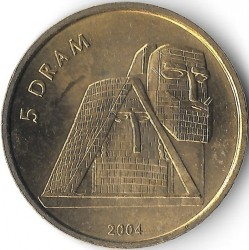"Moneda > 5 dram, 2004 - Nagorno Karabaj  (Monument ""We Are Our Mountains"") - obverse"