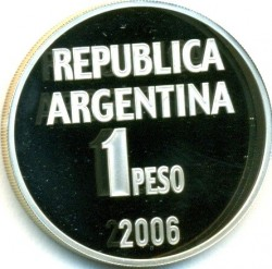 Moneda > 1peso, 2006 - Argentina  (Defensa de los Derechos Humanos) - reverse