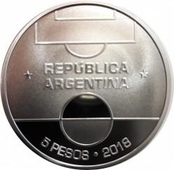 Moneda > 5pesos, 2018 - Argentina  (Copa Mundial de Fútbol de Rusia 2018) - reverse