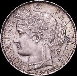 Minca > 1franc, 1849-1851 - Francúzsko  - obverse