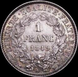 Minca > 1franc, 1849-1851 - Francúzsko  - reverse