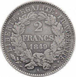 Moneta > 2frankai, 1849-1851 - Prancūzija  - reverse