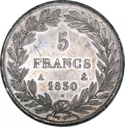 Moneta > 5franków, 1830-1831 - Francja  - reverse