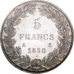 """Монета > 5франка, 1830 - Франция  (Louis Philippe I (with """"I"""")) - reverse"""