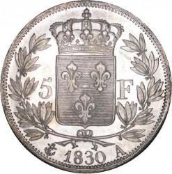 العملة > ٥فرنك, 1827-1830 - فرنسا  - reverse