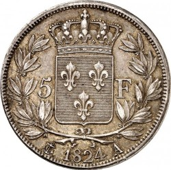 Moneta > 5franchi, 1824-1826 - Francia  - reverse