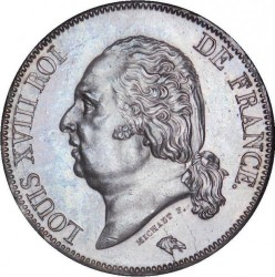 Moneta > 5franchi, 1816-1824 - Francia  - obverse