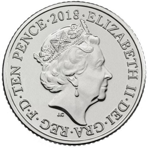 10 Pence 2018 Englisches Alphabet M Vereinigtes Königreich