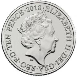Minca > 10pence, 2018-2019 - Veľká Británia  (English alphabet - R) - obverse