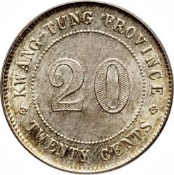 Moeda > 20cêntimos, 1912-1924 - China - República  - reverse