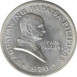 Moneda > 1peso, 1970 - Filipinas  (Visita del Papa Pablo VI) - reverse