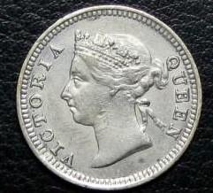 Moneta > 5centesimi, 1871-1901 - Insediamenti dello Stretto  - obverse