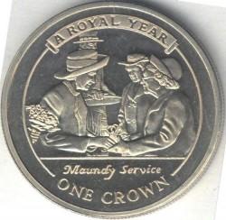 Moneta > 1corona, 2005 - Gibilterra  (Un anno reale - Distribuzione delle monete Maundy nel Giovedì santo) - reverse