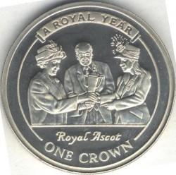 Moneta > 1corona, 2005 - Gibilterra  (Un anno reale - Corsa di cavalli) - obverse