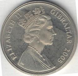 Moneta > 1corona, 2005 - Gibilterra  (Un anno reaale - Sfilata della bandiera) - obverse