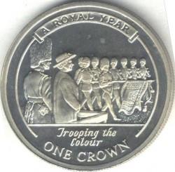 Moneta > 1corona, 2005 - Gibilterra  (Un anno reaale - Sfilata della bandiera) - reverse