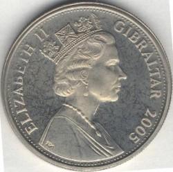 Moneta > 1corona, 2005 - Gibilterra  (Un anno reale - Esposizione floreale) - obverse