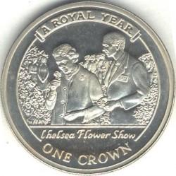 Moneta > 1corona, 2005 - Gibilterra  (Un anno reale - Esposizione floreale) - reverse