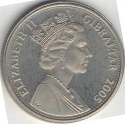 Moneta > 1corona, 2005 - Gibilterra  (Un anno reale - Messaggio di Natale) - obverse