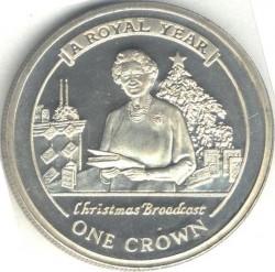 Moneta > 1corona, 2005 - Gibilterra  (Un anno reale - Messaggio di Natale) - reverse