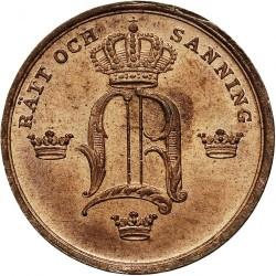 Mynt > ⅓skillingbanco, 1844-1855 - Sverige  - obverse