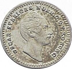 Монета > 1/32ріксдалераспєсіє, 1852-1853 - Швеція  - obverse