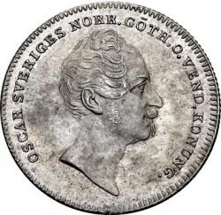 Монета > ⅛ріксдалераспєсіє, 1852 - Швеція  - obverse
