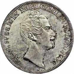 Монета > ¼ригсдалерспесие, 1846-1848 - Швеция  - obverse