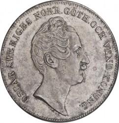 Moneta > 1riksdalerspecie, 1845-1855 - Svezia  - obverse