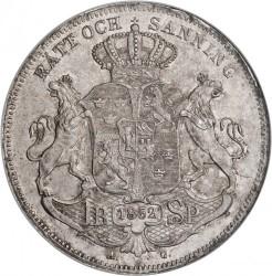Moneta > 1riksdalerspecie, 1845-1855 - Svezia  - reverse