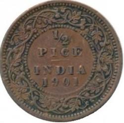Monēta > ½pice, 1885-1901 - Britu Indija  - reverse
