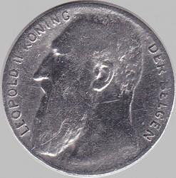 Munt > 50centimes, 1901 - Belgie  (Legend in Dutch - 'DER BELGEN') - obverse