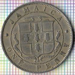 Mynt > 1penny, 1914-1928 - Jamaika  - reverse