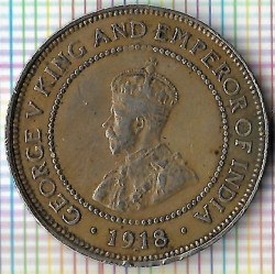 Moneda > ½ penique, 1918 - Jamaica  - obverse