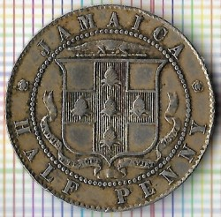 Moneda > ½ penique, 1918 - Jamaica  - reverse