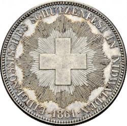 Moneta > 5franchi, 1861 - Svizzera  (Festival del Tiro di Nidvaldo) - obverse