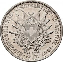 Moneta > 5franchi, 1867 - Svizzera  (Festival del Tiro di Svitto) - reverse