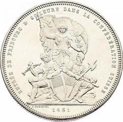 Moneta > 5franchi, 1881 - Svizzera  (Festival del Tiro di Friburgo) - obverse