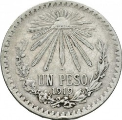 Münze > 1Peso, 1918-1919 - Mexiko  - reverse