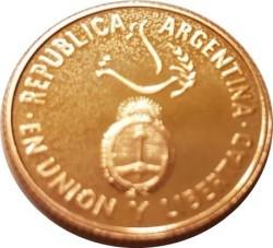 Moneda > 5pesos, 1995 - Argentina  (50º Aniversario de la ONU) - obverse