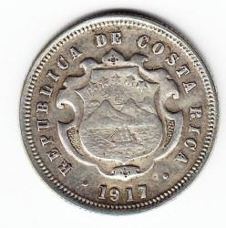 Монета > 10сентаво, 1917 - Коста-Ріка  (Срібло /білий колір/) - obverse
