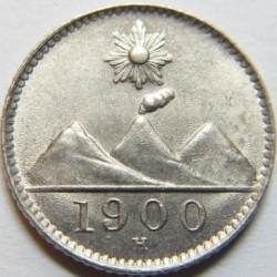 Moneda > ¼real, 1900-1901 - Guatemala  - obverse