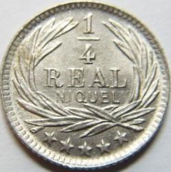Moneda > ¼real, 1900-1901 - Guatemala  - reverse